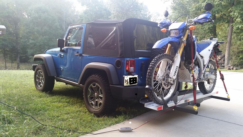 Rage Motorcycle Carrier On 2015 Jk Jeep Wrangler Forum
