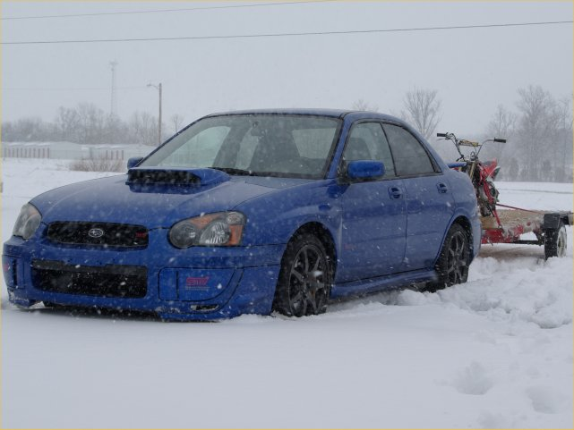 subaru trailering in snow
